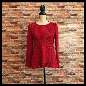 Anthropologie Guinevere Scalloped Crochet Sweater